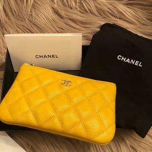 Chanel NIB Yellow Coin Purse RARE